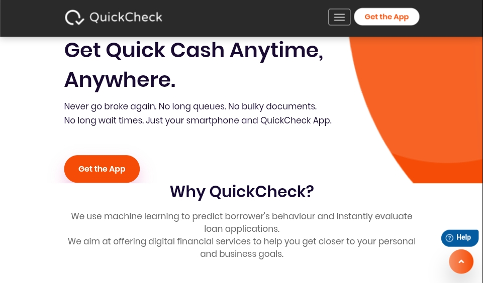 Quick check loan banner